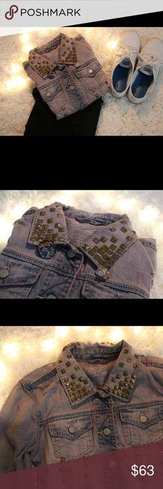 Pretty little liars (aria) jean jacket Pretty little liars exclusive purple jean jacket with gold studs inspired by Aria Montgomery Aeropostale Jackets & Coats Jean Jackets