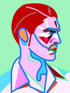 Magnus Voll Mathiassen - L'Officiel Homme Italia Tiphaine-illustration  #illustration #drawing #graphicdesgin #visualart #portrait