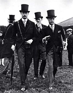 Edward, Prince of Wales and Henry, Duke of Gloucester at the Epsom Races 1927.