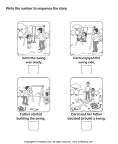 Print And Learn Picture Sequence Worksheets , Free Printable Sequencing Worksheets PDF Story Sequencing Turtlediary Com Sequencing Worksheets, 1st Grade Worksheets, Story Sequencing,