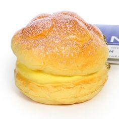 Café De N Custard Cream Puff Dessert Squishy Toy Cellphone Charms
