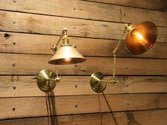 As seen on HBO's Boardwalk Empire - Brass Wall Mount Light - Adjustable Wall Lamp