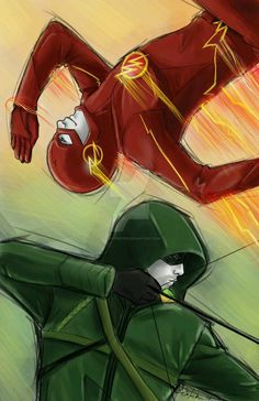 The Flash & the Green Arrow Flash Drawing, Arrow Drawing, Nightwing, Mode Cyberpunk, The Flash Grant Gustin, Univers Dc, Arte Dc Comics, Marvel Comics, Supergirl And Flash