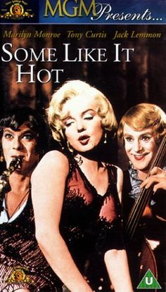 A classic comedy film starring Marilyn Monroe, Tony Curtis and Jack Lemmon. Funny Movies, Old Movies, Great Movies, Popular Movies, Jack Lemmon, Tony Curtis, Some Like It Hot, Classic Comedies, Classic Movies
