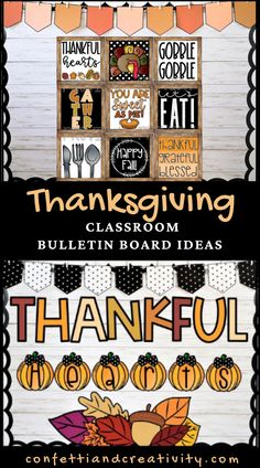 Check out these beautiful, festive, and super easy Thanksgiving bulletin board ideas for the classroom. These ideas are so universal and will work perfectly in your preschool, kindergarten, elementary school, middle school, or high school classroom! Even for your Sunday school classroom! Thanksgiving bulletin board ideas for school. Holiday bulletin board ideas. Holiday classroom. #teacher #classroom #bulletinboard