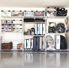 You Think Marie Kondo Skips the Garage? 13 Organization Ideas to Konmari That Sp. You Think Marie Kondo Skips the Garage? 13 Organization Ideas to Konmari That Space Garage Organization Tips, Storage Room Organization, Garage Storage Solutions, Diy Garage Storage, Basement Storage, Storage Room Ideas, Storage Hacks, Organizing Ideas, Organization Ideas For The Home