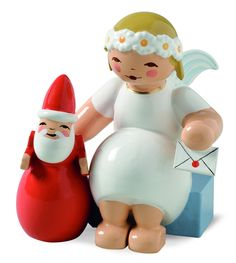 Marguerite Angel with Santa Claus - New for 2014
