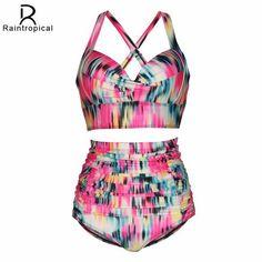 Suit Bathing Up Push Wear Beach Women Bikini Waist High Swimsuit Sizes Large Swimwear Size Plus
