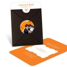 Pocket Wedding Invitations -- Modern Monogram  #peartreegreetings #weddinginvitations #weddingideas