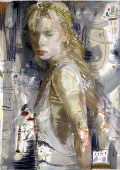 Charles Dwyer - White Shadows--she looks like a young Joni Mitchell to me.