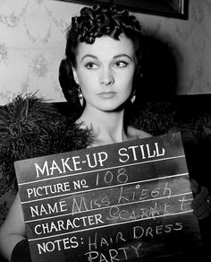 Vivien Leigh in a makeup still for GONE WITH THE WIND (1939)