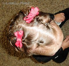 One of my favorite toddler hairstyles  welovebeingmoms.blogspot.com  #toddler hairstyles @Annie Bergquist for baby Violet try this website it has some cute and easy toddler hairstyles