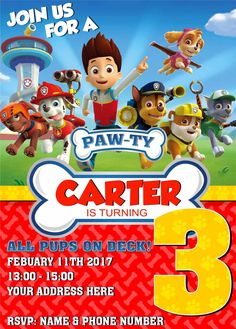 Paw Patrol Birthday Invitations Free Printable Invitation