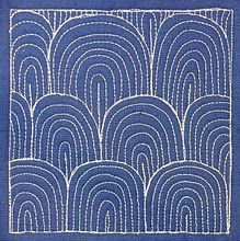 "In the 1970's I had ""contact paper"" on my wall that had this pattern. It was metallic. Those were the days..."