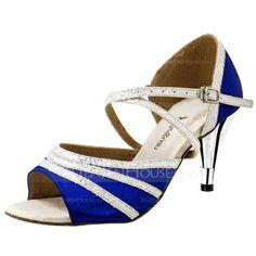 Dance Shoes - $39.99 - Women's Satin Sparkling Glitter Heels Sandals Latin Ballroom Wedding Party Dance Shoes (053020313) http://jenjenhouse.com/Women-S-Satin-Sparkling-Glitter-Heels-Sandals-Latin-Ballroom-Wedding-Party-Dance-Shoes-053020313-g20313