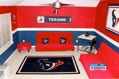 Texans Cave Houston Room Football Oilers Man Home