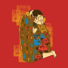 TeePublic tshirt graphic tee doctor who the kiss rose tyler david tennant bad wolf