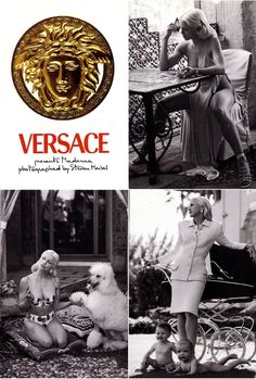 GIANNI VERSACE presents MADONNA In Spring Summer 1995 ad campaign photographed by STEVEN MEISEL
