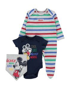 3 Pack Mickey Mouse Set | Baby | George at ASDA