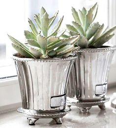 Plantinha bem vestida    Suas plantas merecem um destaque à altura do seu décor! Pensando nisso, apresentamos vasinhos metalizados e texturizados para acomodá-las com sofisticação em qualquer ambiente.