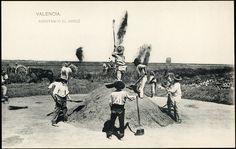 Aventando el arroz, 1907