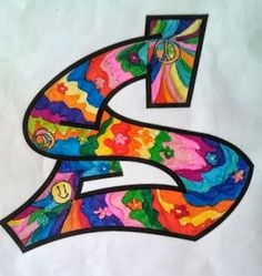 letters & colored texture Art For Kids, Crafts For Kids, Seventh Grade, Art N Craft, Teaching Art, Art Therapy, Markers, Art Projects, Graffiti