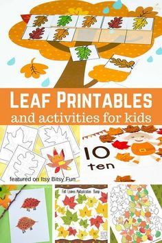 Free Leaf Printables for Kids