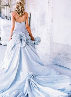 The color Blue for a wedding dress signifies femininity and purity. It also means stability, perpetual loyalty and safety. #IDoBetseyBlue  #Sponsored