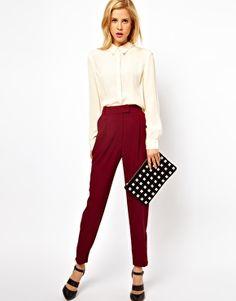 ASOS Trousers With Zip Hem    http://www.asos.com/ASOS/ASOS-Trousers-With-Zip-Hem/Prod/pgeproduct.aspx?iid=2622389=1928=12606,53=0=1=20=-1=Burgundy