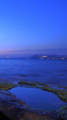 Landscape, Sea, Coast, Sunrise, Blue!