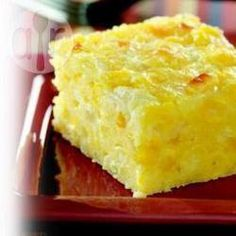 Sopa Paraguaya - a Staple in Paraguay. It's kind of like a cheesy, corn bread quiche. So super yummy! Paraguayan Recipe, Plats Latinos, Quiche, Paraguay Food, Colombian Food, Latin Food, World Recipes, Mexican Dishes, Allrecipes