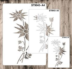 $4.0 AUD - Stencils, Masks For Scrapooking, Cardmaking - St9043 Flannel Flowers, A4, A5, A6 #ebay #Home & Garden