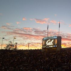 Memorial Stadium on the UC Berkeley campus at sunset. by @ironic_hashtag