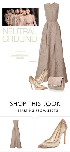 """""""Untitled #546"""" by m-jelic ❤ liked on Polyvore featuring Elie Saab, Gianvito Rossi, Jimmy Choo and Balmain"""