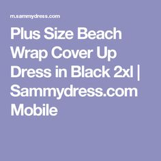 Plus Size Beach Wrap Cover Up Dress in Black 2xl | Sammydress.com Mobile