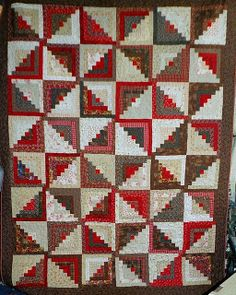 Q- Spicy Logs by Linda Rotz Miller Quilts & Quilt Tops, via Flickr