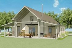 This exclusive two bedroom Vacation bungalow comes with an open loft that overlooks the vaulted family room below.Use it as an extra sleeping space or a playroom for the kids. Lake House Plans, Bedroom House Plans, Small House Plans, Two Bedroom, Home Decor Bedroom, Small Barn Home, Bungalow Bedroom, Cabin Plans, Master Bedroom
