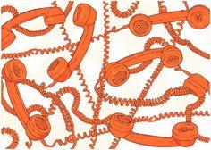 été 1981- Delphine Cauly #telephone #orange