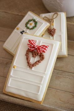 ▷ Christmas cookie decorating ideas to impress everyon.- ▷ Christmas cookie decorating ideas to impress everyone with - Christmas Sugar Cookies, Christmas Sweets, Christmas Cooking, Noel Christmas, Holiday Cookies, Holiday Treats, Christmas Goodies, Fancy Cookies, Iced Cookies