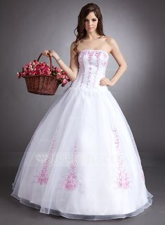 Quinceanera Dresses - $180.99 - Ball-Gown Strapless Floor-Length Organza Quinceanera Dress With Embroidered Beading (021002863) http://jjshouse.com/Ball-Gown-Strapless-Floor-Length-Organza-Quinceanera-Dress-With-Embroidered-Beading-021002863-g2863