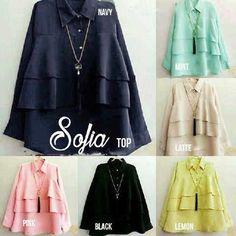 Baju Muslim Atasan Sofia Blouse Trendy - http://bajumuslimbaru.com/baju-muslim-atasan-sofia-blouse #BajuMuslimOnline, #JualBusanaMuslim