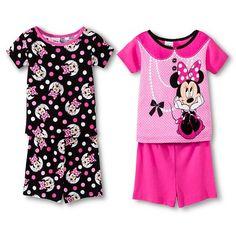 Disney® Toddler Girls' 4-Piece Mix & Match Minnie Mouse Pajama Set