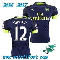 Vente Nouveau Maillot De Foot Arsenal (GIROUD 12) Third Saison 16 17 Pas Chére