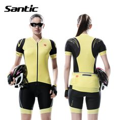 56.19$  Buy now - http://aliped.worldwells.pw/go.php?t=32737208582 - Santic Summer Cycling Jersey Women Athletics Short Sleeve Downhill DH MTB Mountain Road Bike Jersey Kit Padded Bicycle Clothing 56.19$