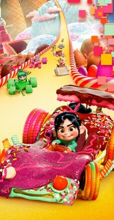 Images of Vanellope von Schweetz from Wreck-It Ralph. Disney Pixar, Disney Animation, Disney Magic, Disney Art, Disney Movies, Disney Characters, Disney Wiki, Animation Films, Disney Stuff