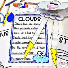 Cloud and Weather Activities for Kindergarten First Grade Second Grade