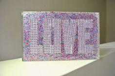 Lia bag multicolour glitter and LOVE with strass