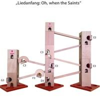 Kugelbahn Xyloba Oh When The Saints by Xyloba - The marble run, that makes music. on SoundCloud Bookends, Have Fun, Saints, Marble, Toys, Building, Music, Handmade, Trends
