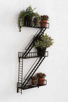 fire escape plant shelves.