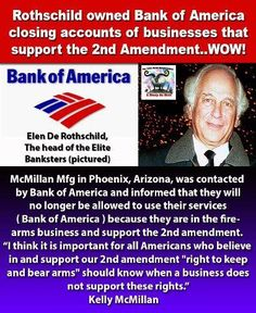 This is taking it to the extreme and HOW IT STARTS! Take your money elsewhere! Don't let yourself be pressured because of your beliefs! Your RIGHT to have the ability to protect yourself from criminals and tyranny was put in THE CONSTITUTION for a reason! Put the HURT on THEM and Boycott Bank of America!